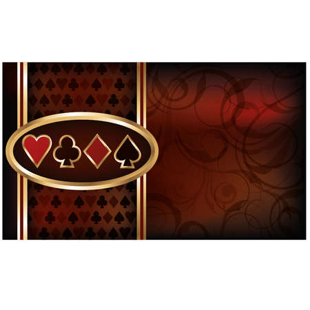 Casino business card Vector