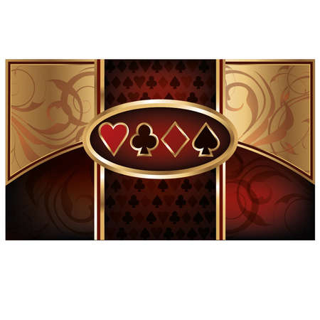 Casino Poker business card Vector