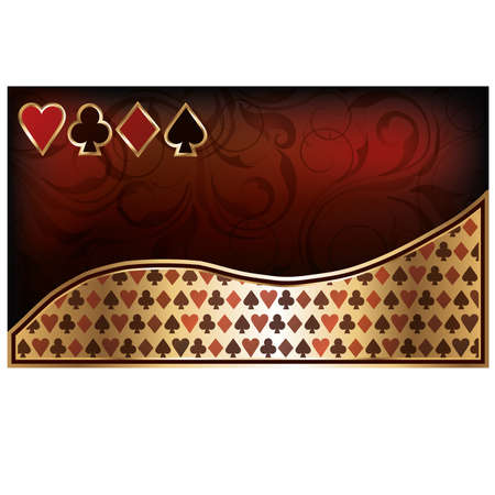heart suite: Casino business card