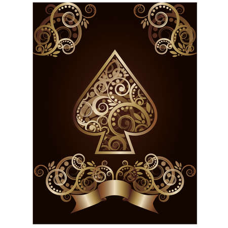 Spade ace poker playing cards, illustration  Stock Vector - 17714112