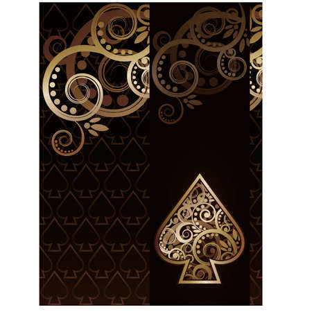 Spade poker playing card, vector illustration Stock Vector - 17836500