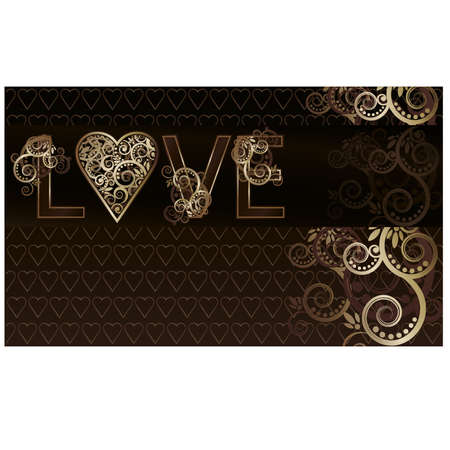Love greeting card, vector illustration Vector