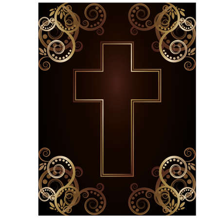 Christian cross, vector illustration Stock Vector - 17836518
