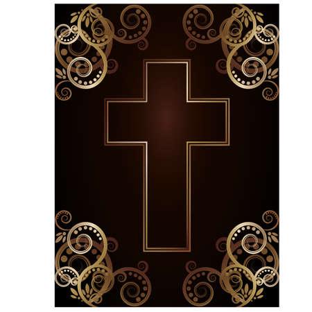 Christian cross, vector illustration Stock Vector - 17836518