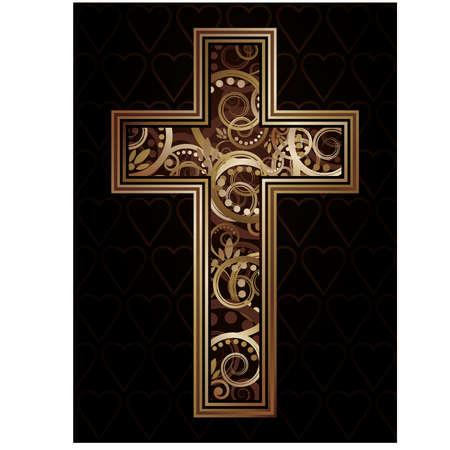 cruz religiosa: Cruz cristiana, ilustración vectorial Vectores