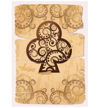 tarot: Vintage Clubs ace poker playing cards