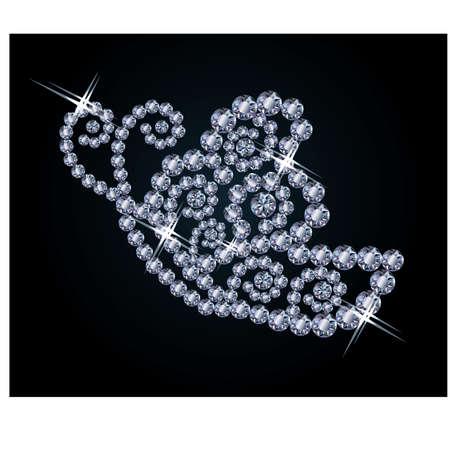 Diamond butterfly,  illustration Stock Vector - 18090627