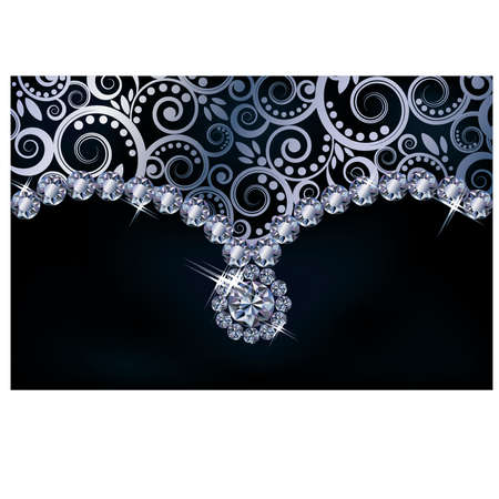jewelery: Diamond background,  illustration Illustration