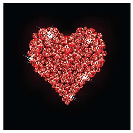 ruby stone: Ruby heart