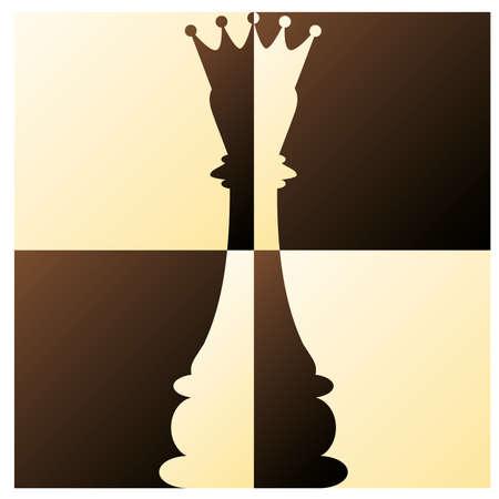 chessboard: Chess Queen  vector illustration