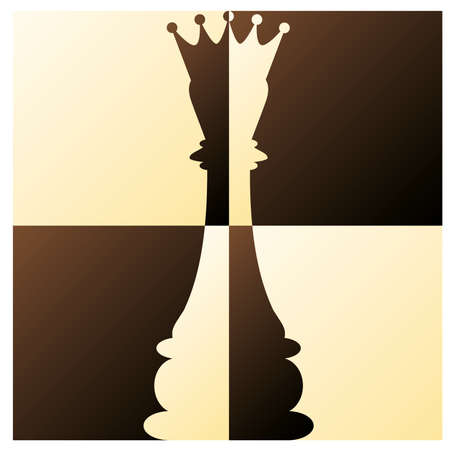 tablero de ajedrez: Reina del ajedrez ilustraci�n vectorial
