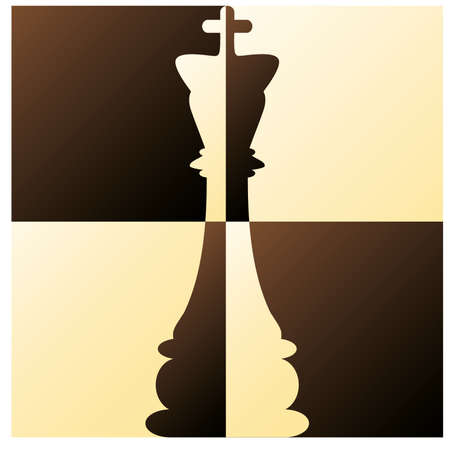 chess game: Chess King vector illustration