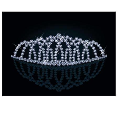 Diamond princess diadem Stock Vector - 18384024