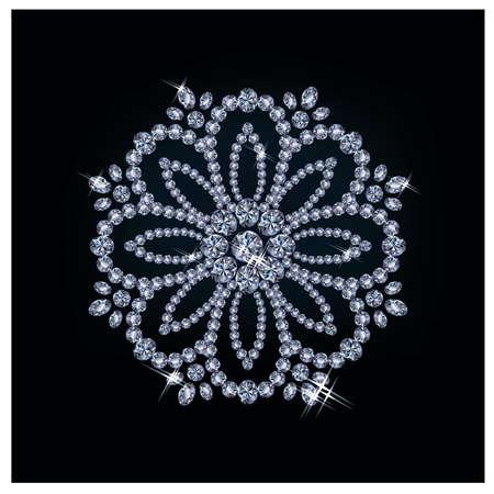 a precious: Diamond flower, vector illustration
