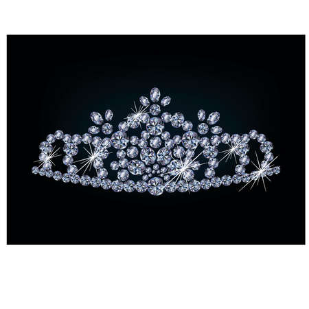 Brilliant diamond diadem, vector illustration Stock Vector - 18404870