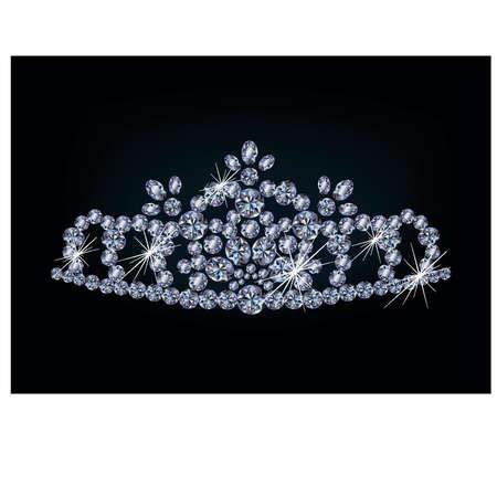 Brilliant diamond diadem, vector illustration Stock Vector - 18404870