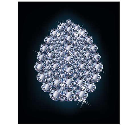 Diamond Easter egg, vector illustration Stock Vector - 18419021