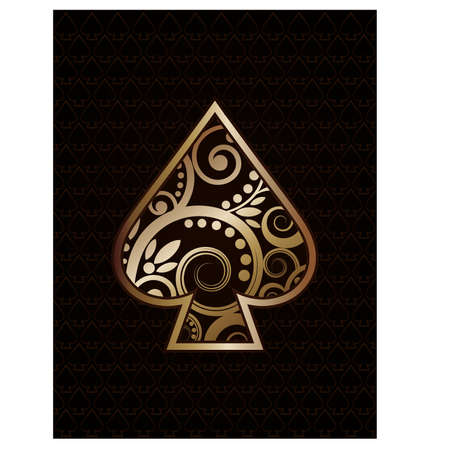 Spade´s ace poker playing cards, vector illustration Stock Vector - 18461712