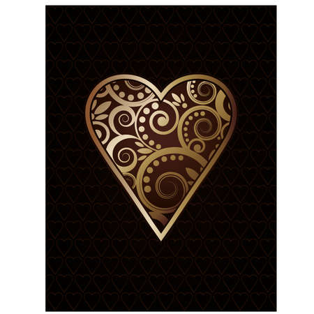 Heart´s ace poker playing cards, vector illustration Illustration