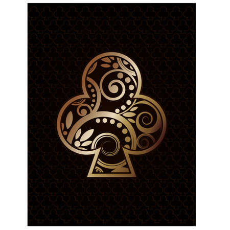 Club´s ace poker playing cards, vector illustration