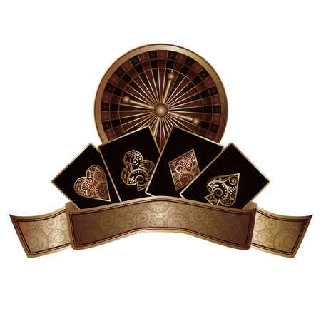 Casino poker elements, illustration