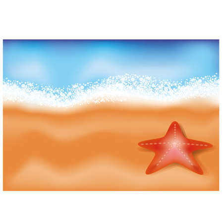 Summer sea beach background Vector