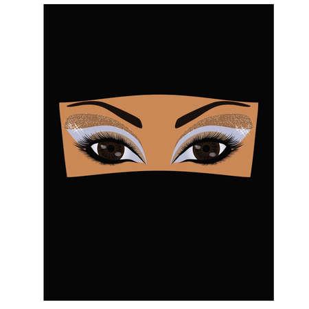 veiled: Arabian muslim woman