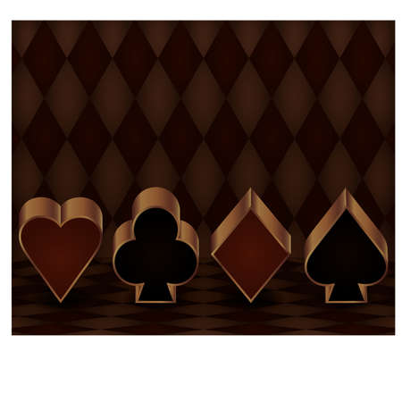 Casino gambling banner with poker elements, vector illustration Vector