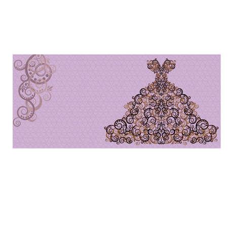 paper dresses: Wedding invitation card