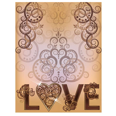love letters: Wedding love invitation card