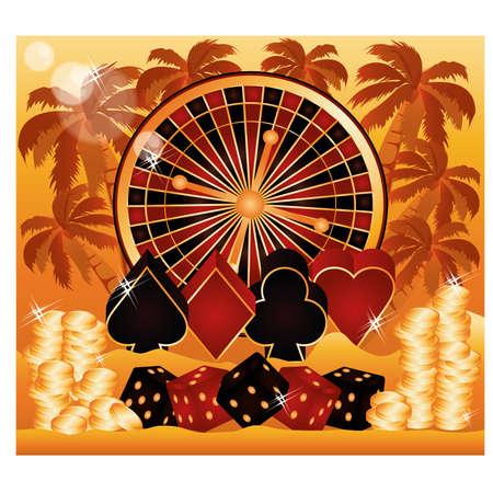 Summer poker time wallpaper. Stock Vector - 19612230