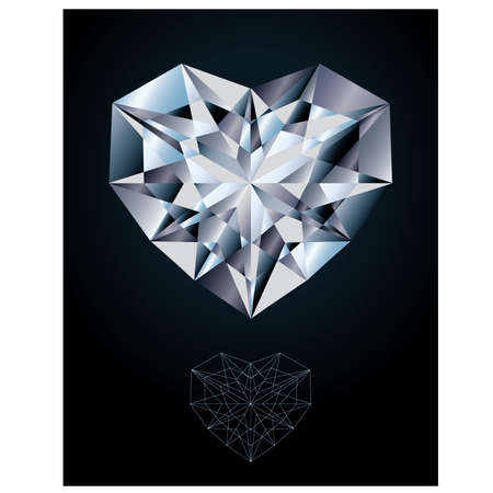 karat: Diamond heart jewel Illustration