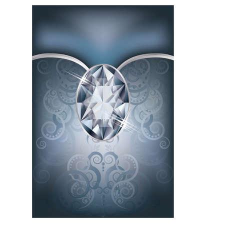 Congratulation  card with diamond Stock Vector - 19612431