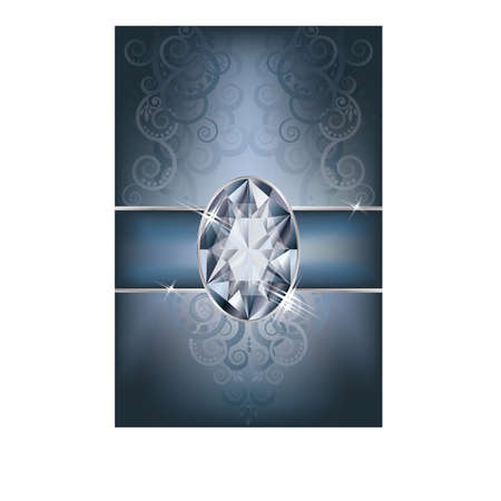 Greeting card with diamond, vector illustration Stock Vector - 19612432