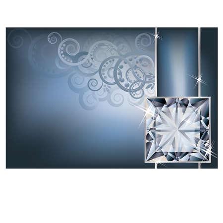 Greeting invitation card with diamond Stock Vector - 19754522