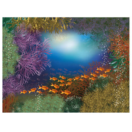 seafish: Underwater world wallpaper Illustration