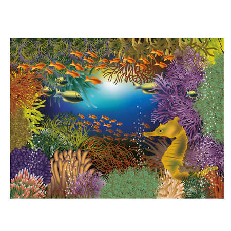 seafish: Underwater wallpaper with seahorse Illustration