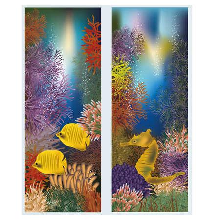 seafish: Underwater world vertical banners