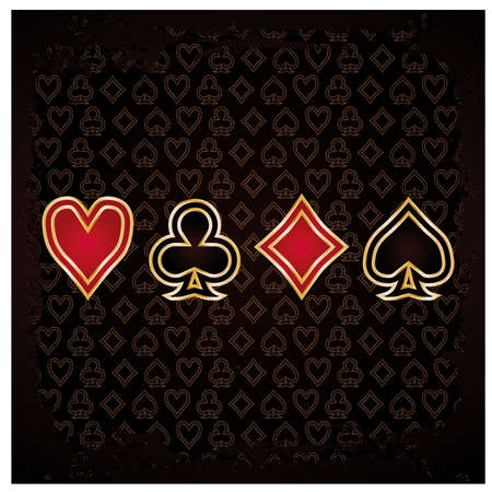 clover backdrop: Casino background with poker elements illustration