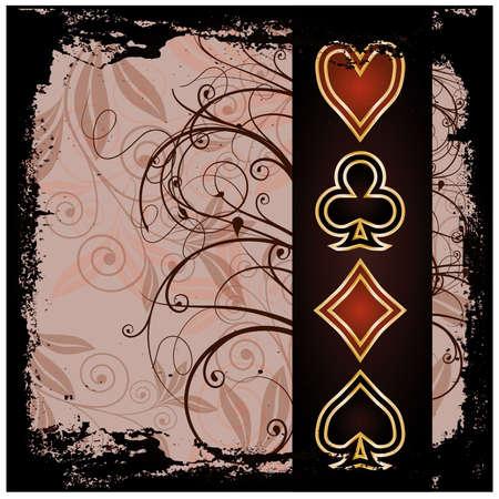 gambler: Poker old wallpaper, illustration
