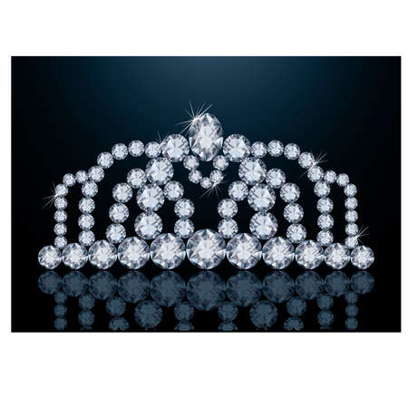 Pretty diamond diadem, vector illustration Stock Vector - 20773443