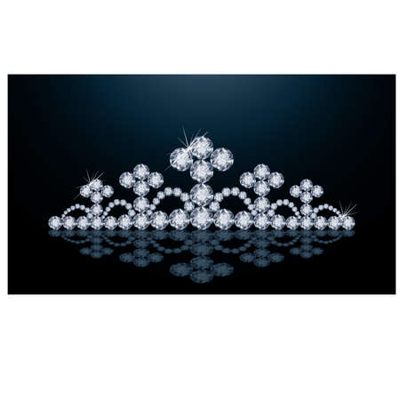 Diamond crown, vector illustration  Stock Vector - 20773444
