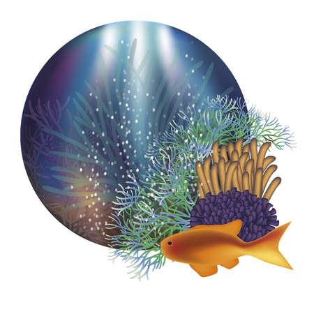seafish: Underwater world banner illustration