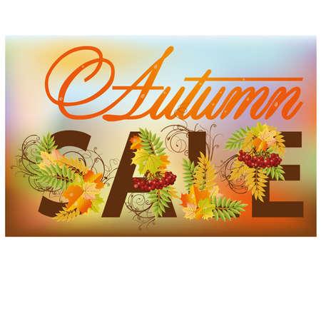 ashberry: Autumn sale banner, vector illustration Illustration