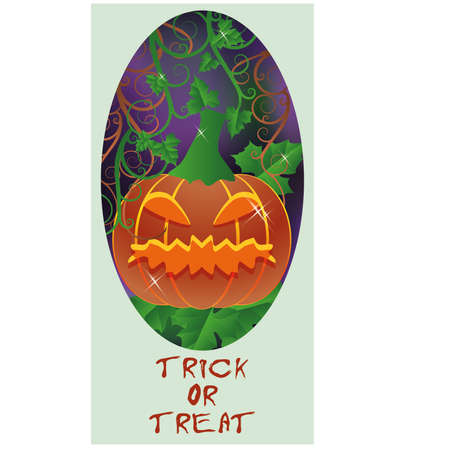 Trick or Treat Halloween card Vector
