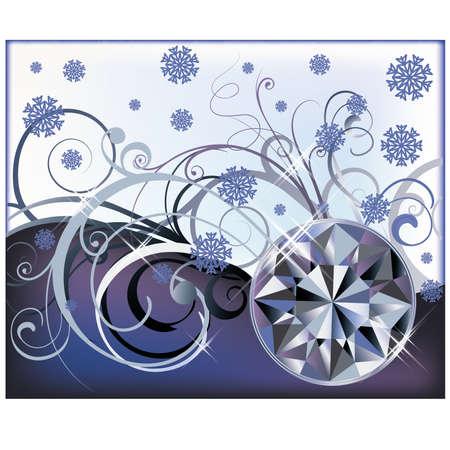 Winter diamond background, vector illustration Stock Vector - 23079132