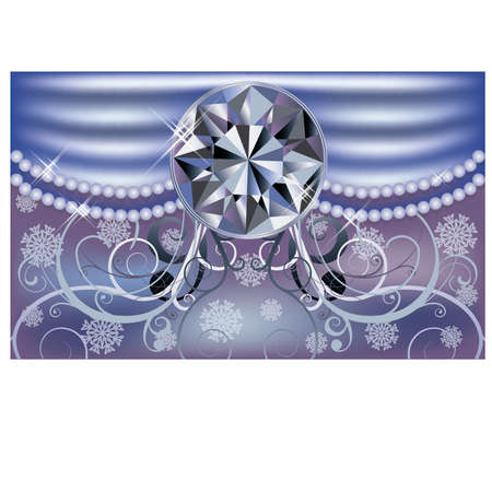 Diamond winter background, vector illustration  Vector