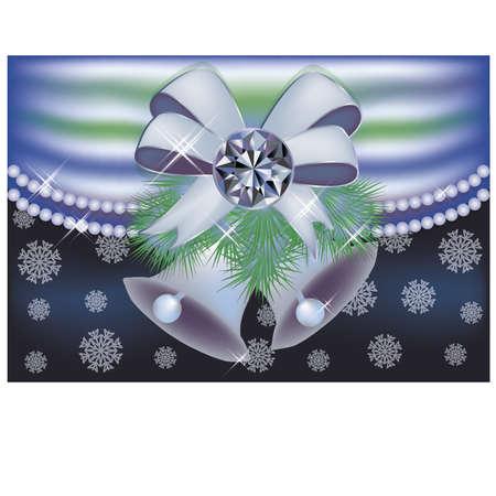 Diamond winter greeting card, vector illustration