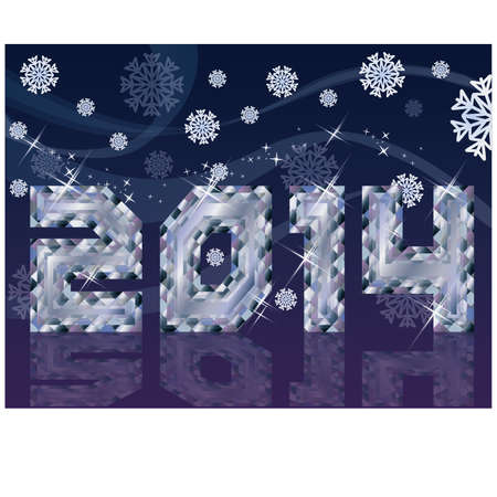 Diamond 2014 New Year background, vector illustration Vector