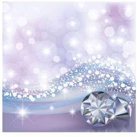 Winter card with diamonds, vector illustration Illustration
